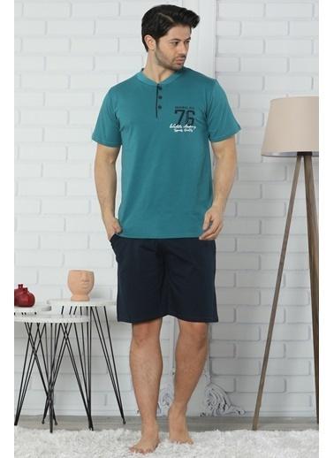 Akbeniz Pijama Takım Petrol